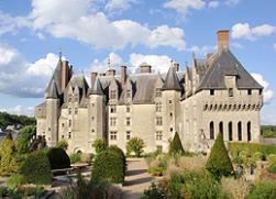 chateau of langeais in the loire valley