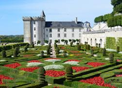 villandry chateau and gardens in the loire valley
