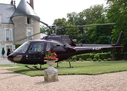 Helicopter flight over the Loire Valley castles