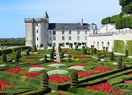 Chateau of villandry in the loire valley