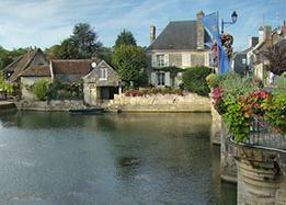 Village of Azay-le-Rideau in the Loire Valley - Indre river